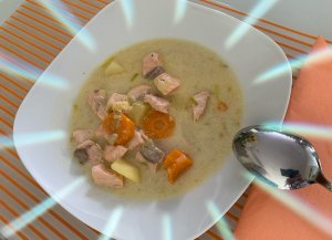 #49plus Lachssuppe